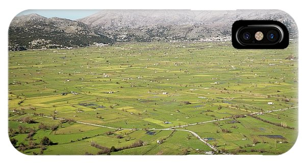 Upland iPhone Case - Sheep Grazing On The Lasithi Plateau by Bob Gibbons/science Photo Library