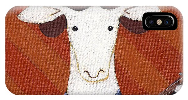 Sheep iPhone Case - Sheep Guitar by Christy Beckwith