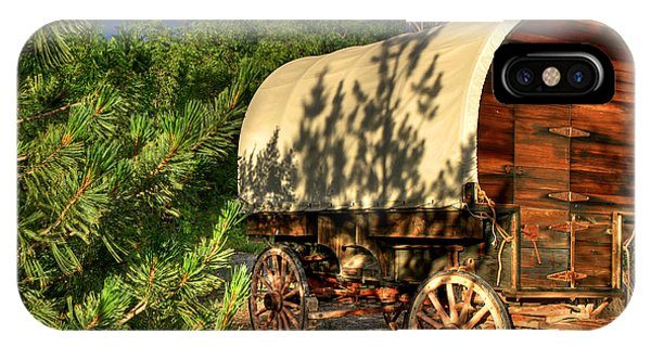 Wagon Wheel iPhone Case - Sheep Herder's Wagon by Donna Kennedy