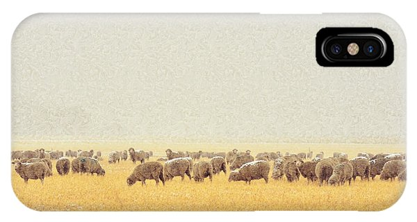 Sheep In Snow IPhone Case