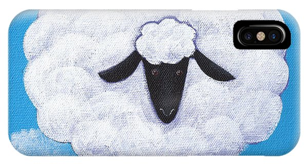 Sheep iPhone X / XS Case - Sheep Nursery Art by Christy Beckwith