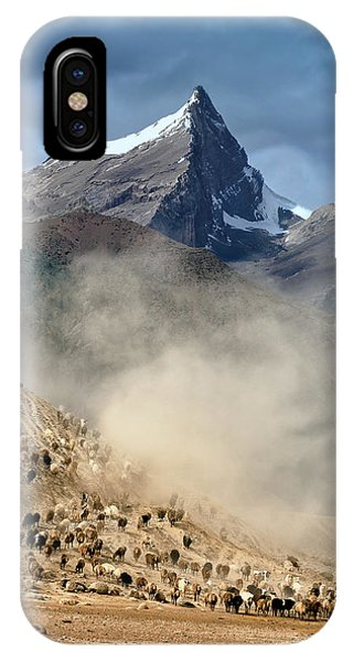 Dust iPhone Case - Sheep Trail by Hua Zhu