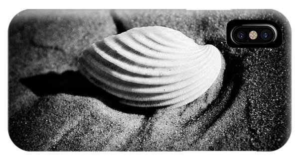 Shell On Sand Black And White Photo IPhone Case