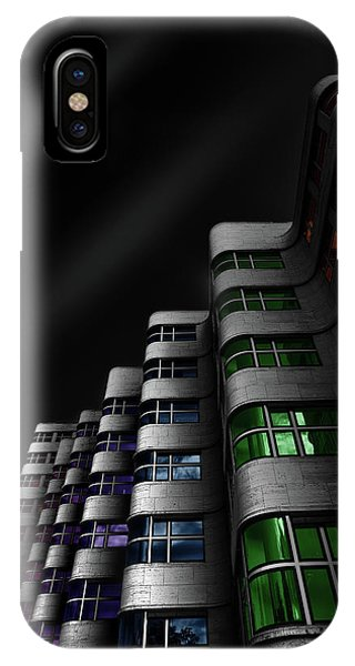 Buildings iPhone Case - Shellhaus Color by Matthias Hefner