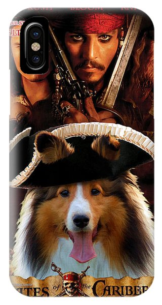 Sheltie - Shetland Sheepdog Art Canvas Print - Pirates Of The Caribbean The Curse Of The Black Pearl IPhone Case