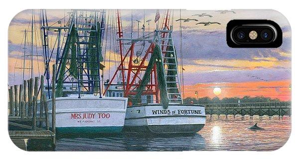 Shem Creek Shrimpers Charleston  IPhone Case