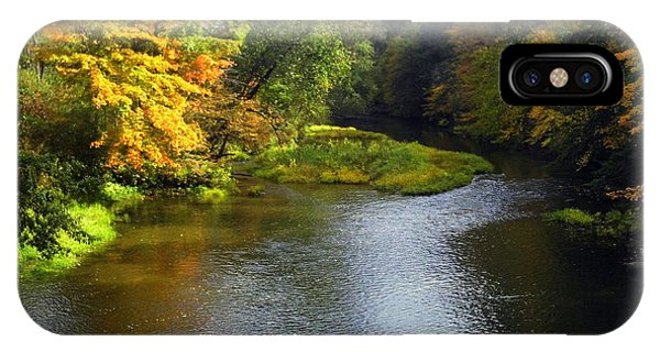 Shenago River @ Iron Bridge IPhone Case