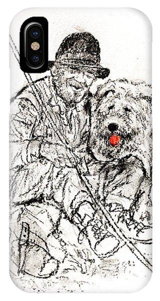Shepherd With Dog Phone Case by Kurt Tessmann