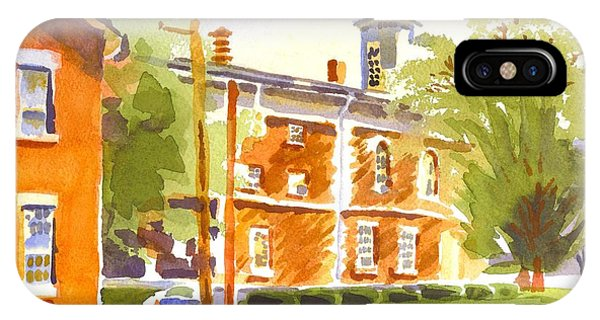 Courthouse iPhone Case - Sheriffs Residence With Courthouse II by Kip DeVore