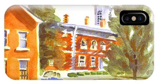 Courthouse iPhone Case - Sheriffs Residence With Courthouse by Kip DeVore