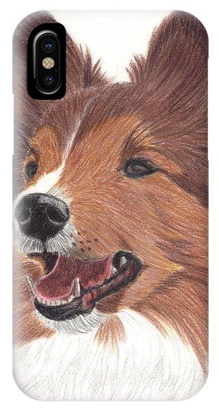 Shetland Sheepdog Vignette Phone Case by Anita Putman