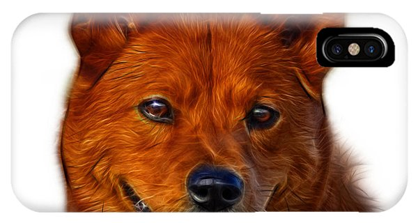 IPhone Case featuring the mixed media Shiba Inu Dog Art - 8555 - Wb by James Ahn