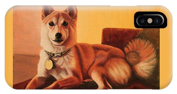 Shiba Inu Portrait IPhone Case