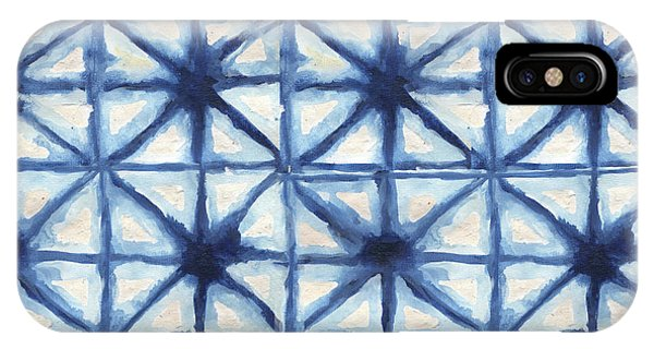 American iPhone Case - Shibori Iv by Elizabeth Medley