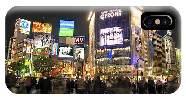 Shibuya Crossing At Night Tokyo Japan  IPhone Case