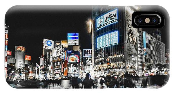 Futuristic iPhone Case - Shibuya Crossing by Carmine Chiriac??