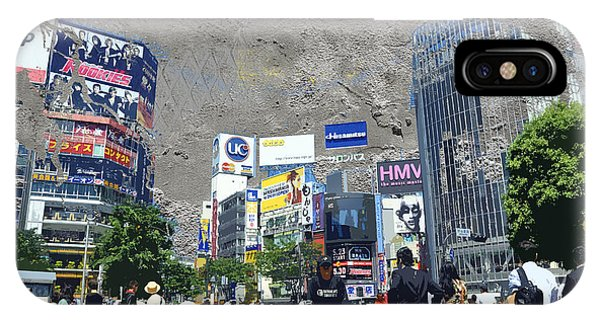 Famous People iPhone Case - Shibuya Street Creation by Delphimages Photo Creations