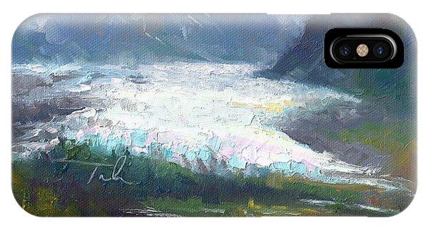 Shifting Light - Matanuska Glacier IPhone Case