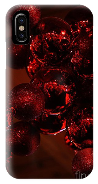 Shimmer In Red IPhone Case