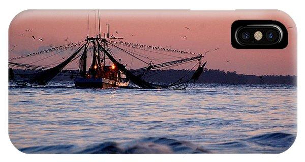 Shimp Boat Returning To Port IPhone Case