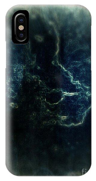 IPhone Case featuring the mixed media Shin by Daniel Brummitt