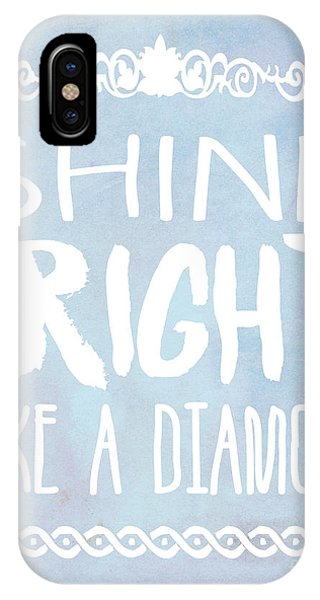 Rihanna iPhone Case - Shine Bright Blue by Pati Photography