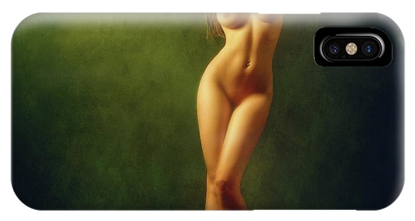 Pose iPhone Case - Shine Gold, Shine Green... by Zachar Rise