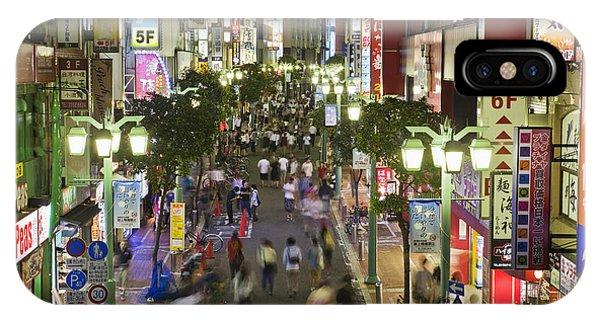 Shinjuku Street Scene At Night IPhone Case