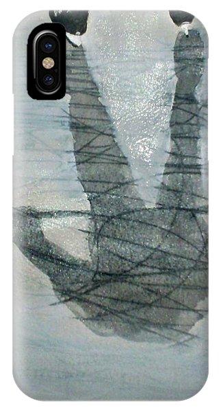 Shinny Shilouette Wc IPhone Case