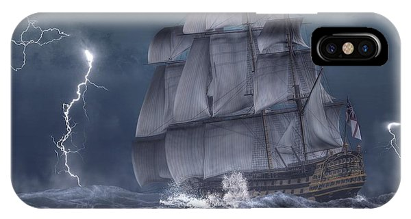 Ship In A Storm IPhone Case
