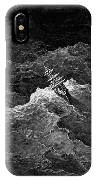 Tidal iPhone Case - Ship In Stormy Sea by Gustave Dore