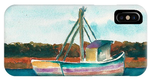 Ship In The Marsh IPhone Case