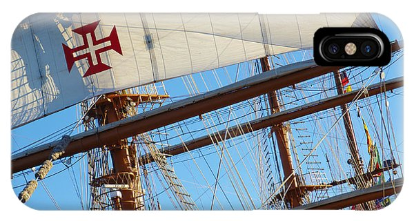 Navigation iPhone Case - Ship Rigging by Carlos Caetano