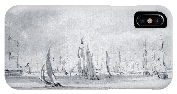 Shipping In The Thames IPhone Case