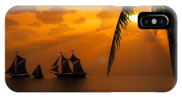 Ships And The Golden Dawn... IPhone Case