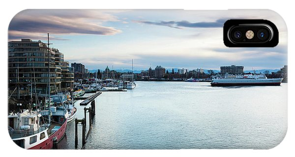Inner World iPhone Case - Ships At Inner Harbor, Victoria by Panoramic Images