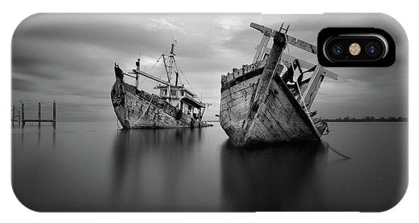 Fishing Boat iPhone Case - Shipwreck by Abi Danial
