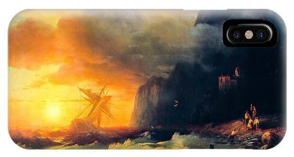 iPhone Case - Shipwreck At Mount Athos by Viktor Birkus