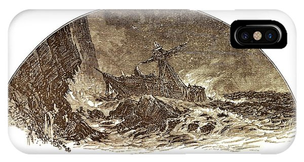 Drown iPhone Case - Shipwreck Illustration by David Parker/science Photo Library
