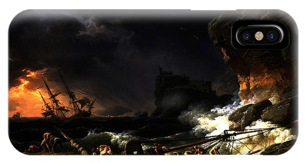 Shipwreck In A Thunderstorm IPhone Case