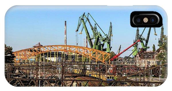 Pomeranian iPhone Case - Shipyard Gdansk by Photostock-israel