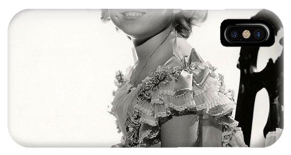 Shirley Temple Portrait IPhone Case