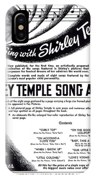 Shirley Temple Song Album IPhone Case