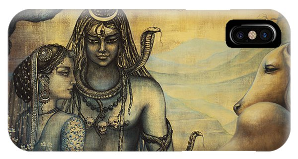 Shiva Parvati . Spring In Himalayas IPhone Case