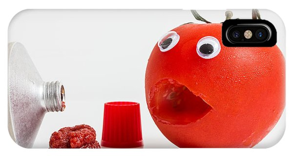 Shocked Tomato. Phone Case by Gary Gillette