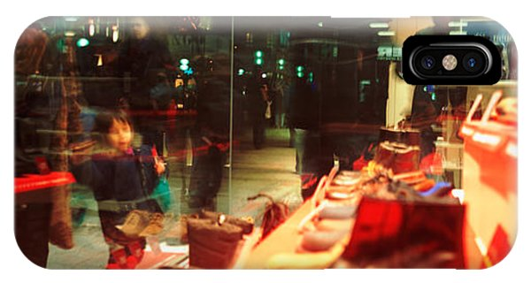 Window Shopping iPhone Case - Shoes Displayed In A Store Window by Panoramic Images
