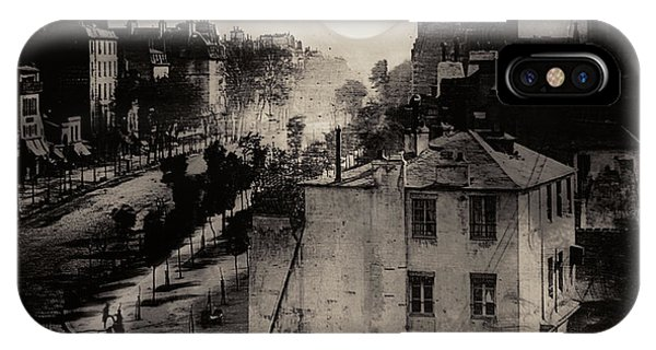 Shoeshine On The Boulevard Du Temple 1838  Paris IPhone Case