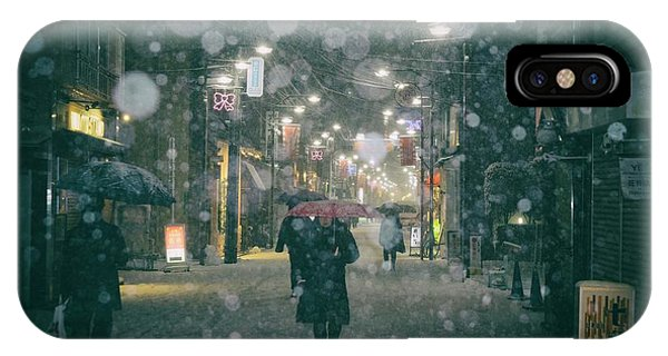 Snowy iPhone Case - Shopping Street by 7 Flavor C/p