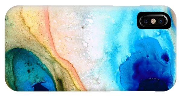 Relaxation iPhone Case - Shoreline - Abstract Art By Sharon Cummings by Sharon Cummings
