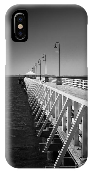Shorncliffe Pier In Monochrome IPhone Case